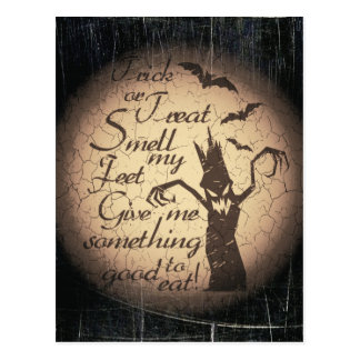 halloween quote postcard