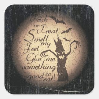 halloween quote square sticker