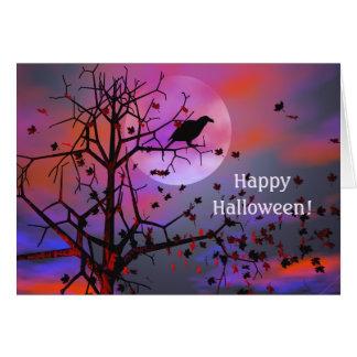Halloween Raven Night Card