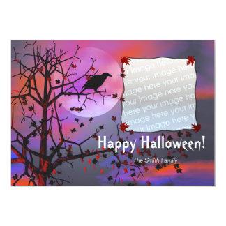 Halloween Raven Night Photo Card 13 Cm X 18 Cm Invitation Card