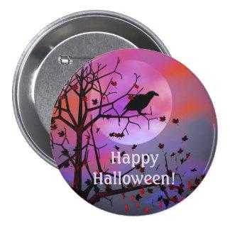 Halloween Raven Night Pinback Button