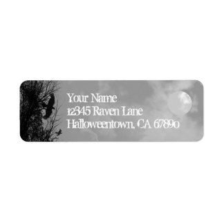 Halloween Raven Sky Custom Return Address Labels