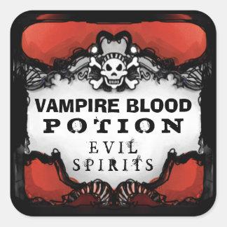 Halloween Red & Black Custom Drink Label