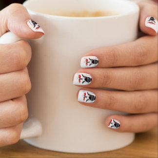 HALLOWEEN RED EYE SKELETON nails Minx Nail Art