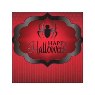 Halloween red spider canvas print