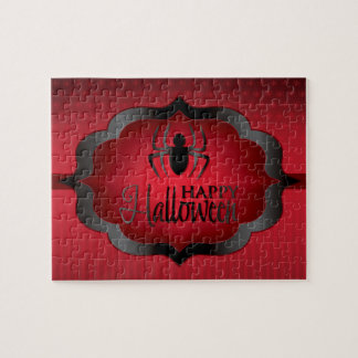 Halloween red spider jigsaw puzzle