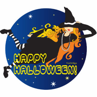 halloween redhaired witch cut out