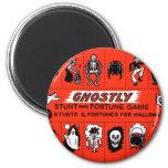 Halloween Retro Vintage Ghostly Stunts Game 6 Cm Round Magnet