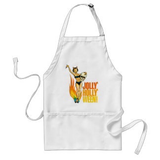Halloween Retro Vintage Kitsch Holly Jolly Ween Adult Apron