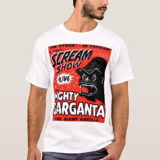 Halloween Retro Vintage Kitsch Scream Show Ape T-Shirt
