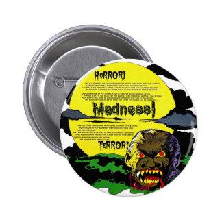 Halloween Retro Vintage Monsters Terror, Madness! 6 Cm Round Badge