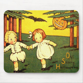 Halloween Retro Vintage Scary Halloween Kids Mouse Pad