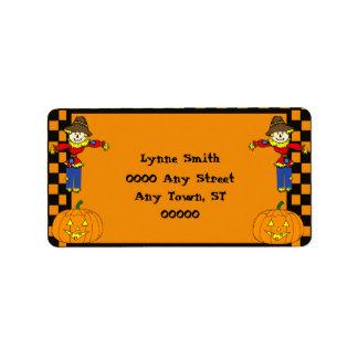 Halloween Return Address Label