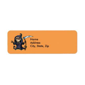 Halloween Return Address Label - Grim Reaper