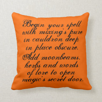 Halloween,reversible, pillow, original,poem,text cushion