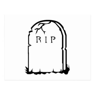 Halloween RIP Tombstone Postcard