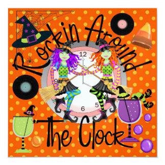 Halloween Rockin' Around the Clock Invitation