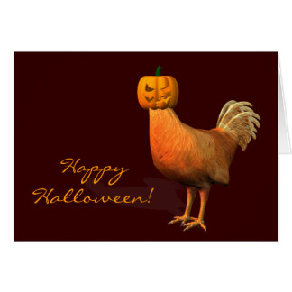 Halloween Rooster Card