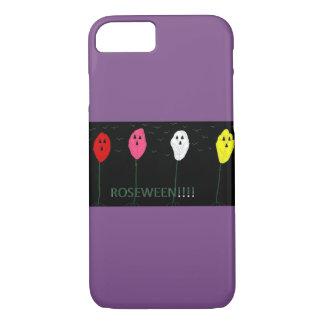 Halloween roseween iphone case