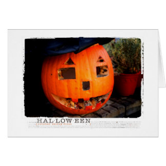 Halloween rotted out Pumpkin Greeting Card