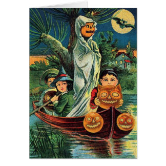 Halloween Rowboat Ride, Card