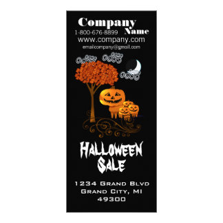 Halloween Sale Rack Card