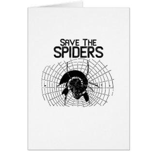 Halloween Save Spiders Web Costume Card