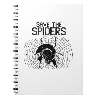 Halloween Save Spiders Web Costume Notebooks