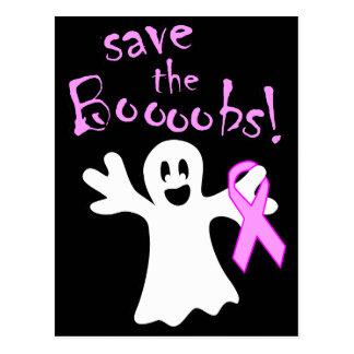 Halloween Save The Boobs Breast Cancer Awareness Postcard