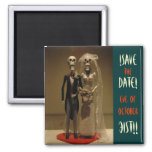 Halloween Save the DATE Square Magnet