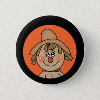 Halloween Scarecrow 6 Cm Round Badge