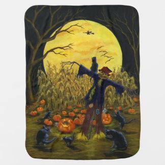 Halloween scarecrow baby blanket