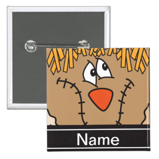 Halloween Scarecrow Face Personalize 15 Cm Square Badge