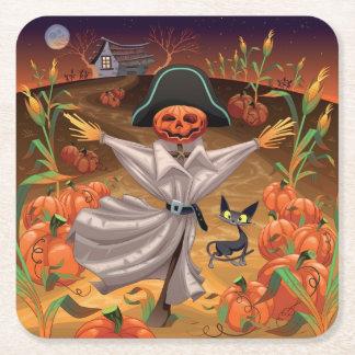 Halloween Scarecrow Paper Coaster Square Paper Coaster