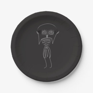 Halloween Scarecrow Paper Plate