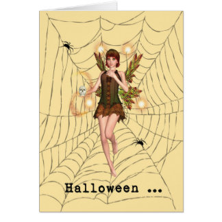 Halloween Scared Fairy Card