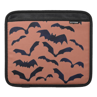 Halloween Scary Black Bats Orange iPad Sleeve