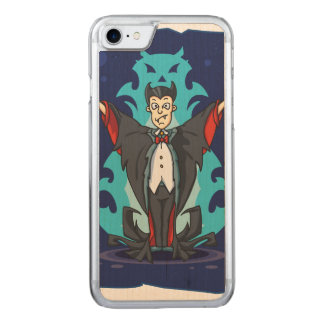 Halloween Scary but Funny Vampire Carved iPhone 8/7 Case