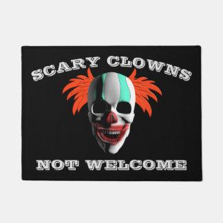 Halloween Scary Clowns Not Welcome Doormat
