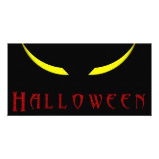 Halloween Scary Eyes Photo Card Template