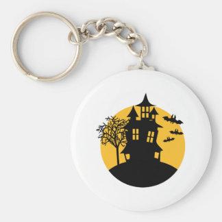 Halloween Scary horror house Keychain