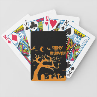 Halloween scary night bicycle playing cards