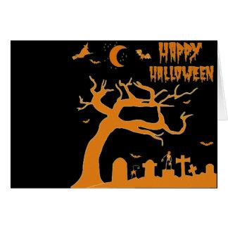 Halloween scary night cards