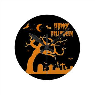Halloween scary night wall clocks