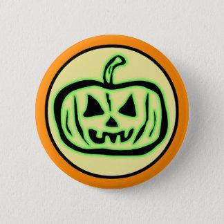 Halloween Scary Pumpkin Jack O Lantern 6 Cm Round Badge