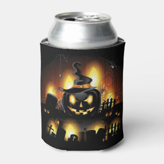 Halloween - Scary Pumpkins w/Hat Can Cooler