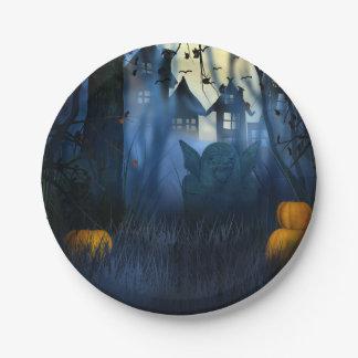 Halloween - Scary Scene 1 Goblin Paper Plate