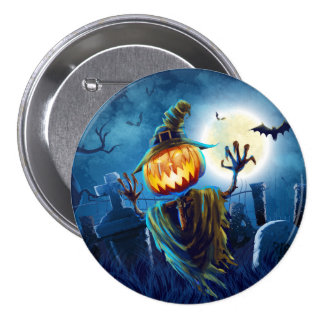 Halloween Scary Scene (5) Pumpkin All Options 7.5 Cm Round Badge