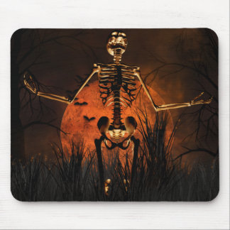 Halloween, Scary Skeleton Mouse Pad