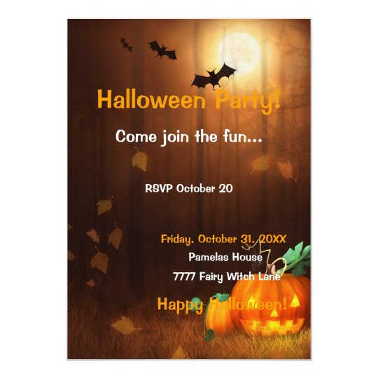 Halloween Scene Invitation